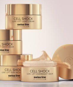 Kem chống lão hóa và nâng cơ dành cho da khô Swissline Cell Shock Luxe-Lift Very Rich Cream